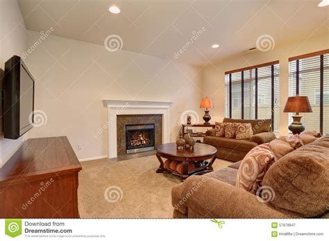typical living room typical living room in american home with carpet and velvet sof stock photo image 57678847