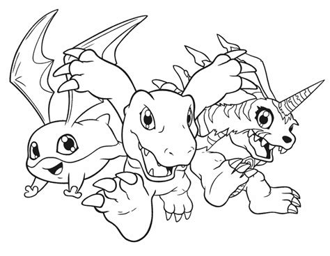 Digimon Coloring Pages Printable Coloring Home