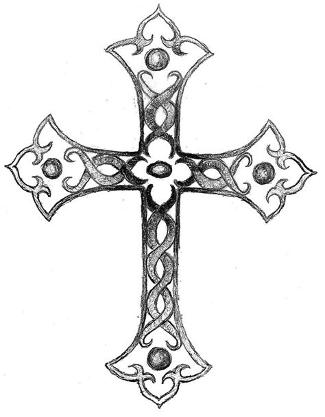 cross tattoo with shading shaded cross by balloon fiasco on deviantart