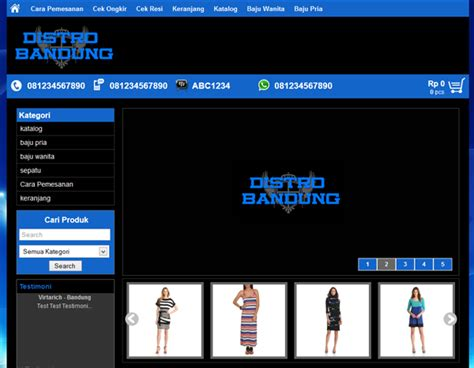template toko online distro berkah template template toko online distro bandung