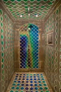 Color Changing Bathroom Tiles - shower with heat sensitive tiles pics