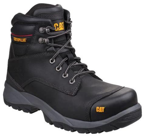 Caterpillar High Boot Safety Black caterpillar safety boots spiro black safety boots r us
