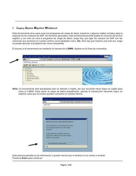 lsmw tutorial in sap lsmw tutorial spanish espanol