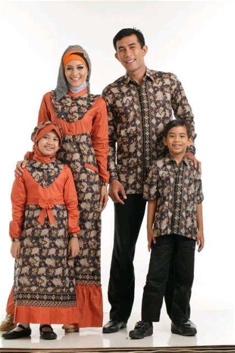 St Batik Keluarga Modern Modis Warna Coklat kreasi model baju batik muslim terbaru 2015