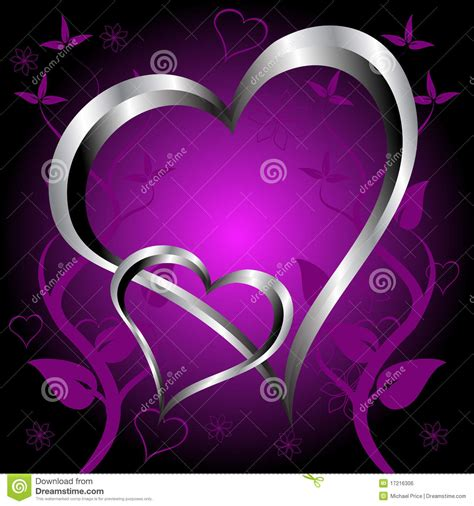 a purple hearts valentines day background royalty free