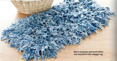 Jean Rug by Rug Made From And Shirts Clothing Upcycle Reuse Recycle Repurpose Diy