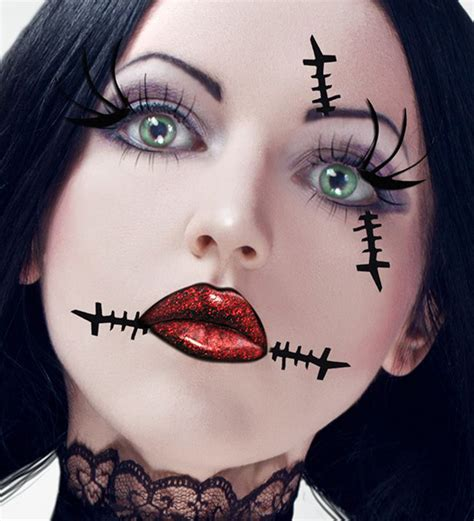 imagenes goticas reales maquillaje de munequita de trapo para halloween 2015