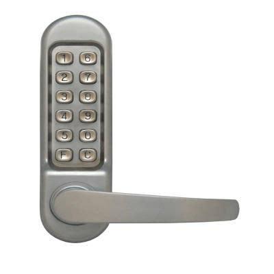 outdoor ls home depot lockstate mechanical keyless handle door lock gate locks