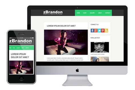 Free Responsive Templates by Zbrandon Responsive Html5 Theme Html5xcss3