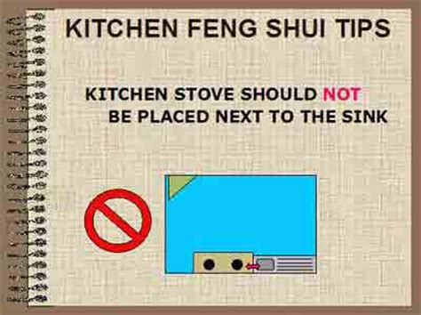 feng shui kitchen sink and stove