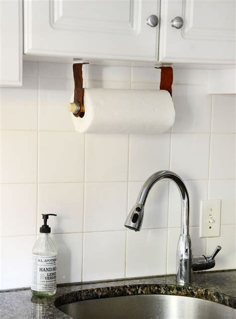 diy paper towel dispenser easy diy leather paper towel holder