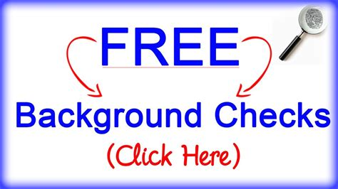 Free Criminal Background Check Free Background Checks Criminal Birth Divorce Etc