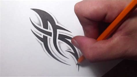 easy tattoo designs to draw drawing a simple spiky tribal design with some