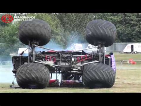 video monster truck accident monster truck crash slingshot monster truck crashes at