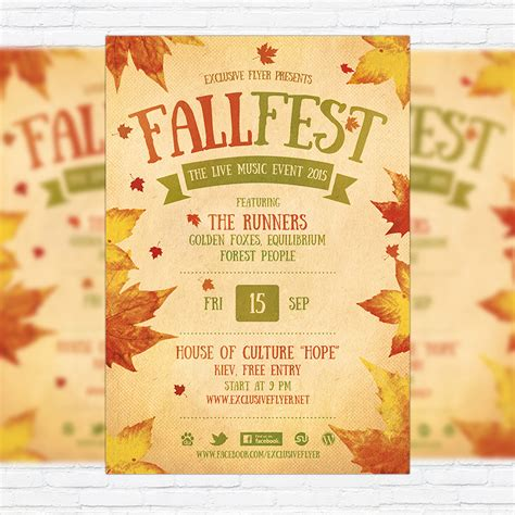 fall festival flyer template fall festival flyer template printable flyers in word