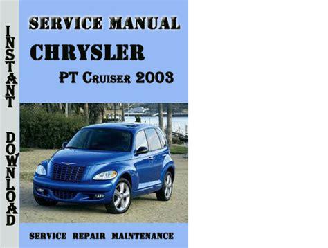 car manuals free online 2003 chrysler pt cruiser instrument cluster service manual pdf 2003 chrysler pt cruiser electrical troubleshooting manual 2001 2003