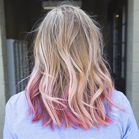 hairstyles blonde tips pink is the new blonde we love seeing pink hair become