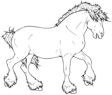 coloring pages of draft horses shire lineart by requay on deviantart coloring pages