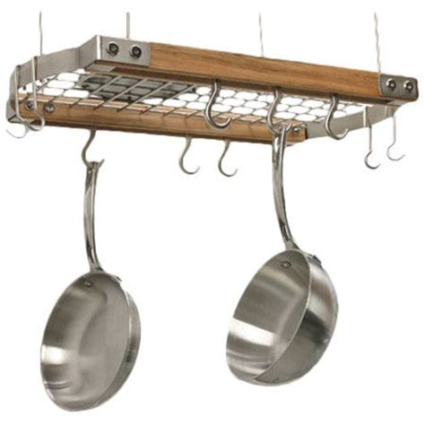 Small Pot Rack You Should See This Mini Gray Oval Hanging Pot Rack In