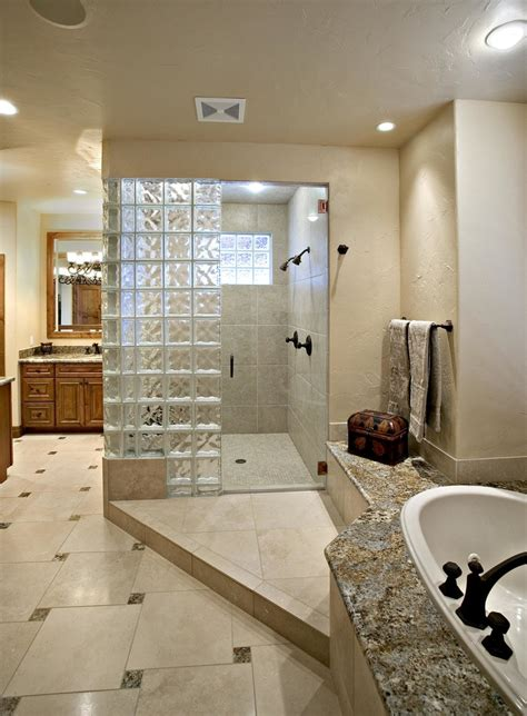 glass block designs for bathrooms glass block window in shower bathroom with curbless epoxy grout glass beeyoutifullife