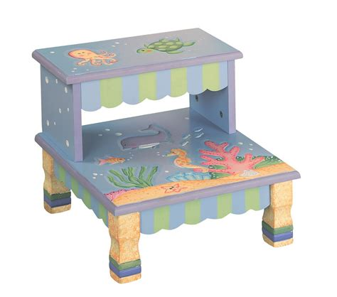 child step stool dreamfurniture com teamson kids step stool under the sea