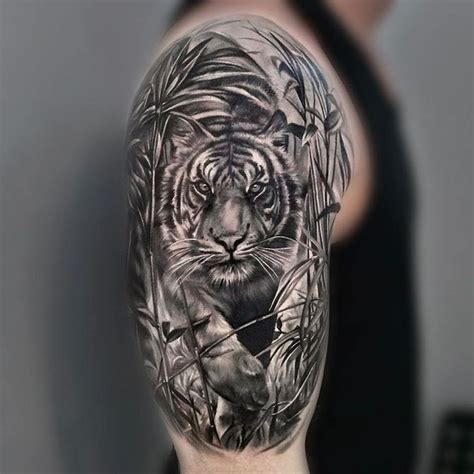 tiger sleeve tattoo designs 25 best tiger sleeve ideas on sleeve