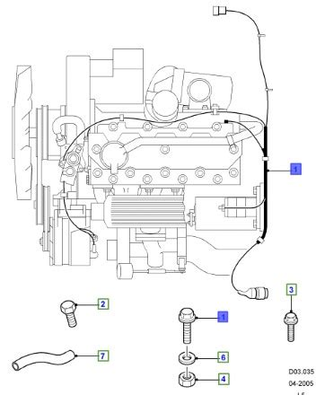 land rover genuine wiring assembly engine defender   ysb se auto imports