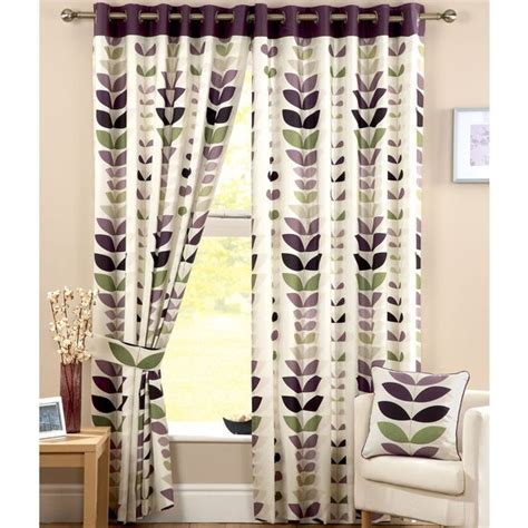 cream and aubergine curtains leaves leaf prints and patterns on pinterest