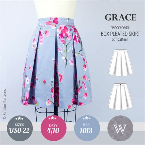 Pattern Pleated Skirt grace box pleated lined woven skirt with pockets pdf