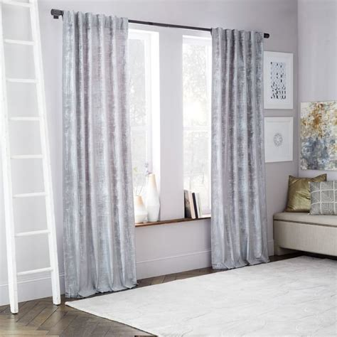 west elm velvet curtains west elm crosshatch velvet curtain feather gray 99