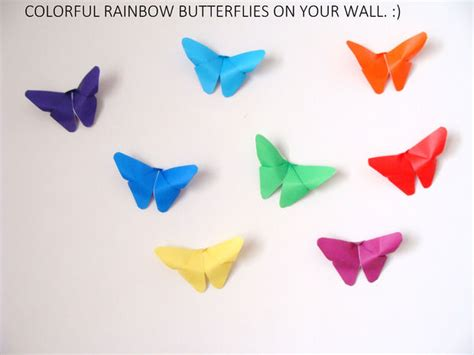 How To Make Paper Butterflies For Wall - butterfly origami wall decor