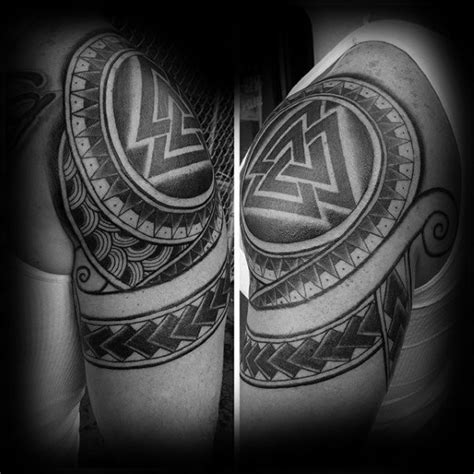 tribal valknut tattoo golfian com