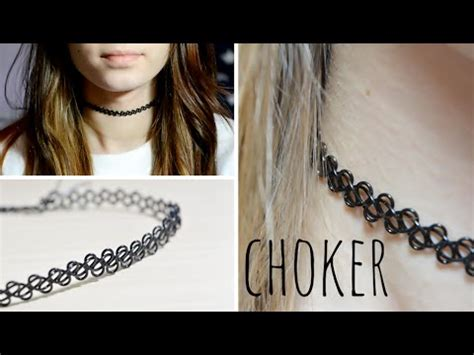 diy tattoo choker gargantilla de los 90 youtube