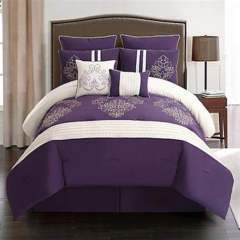 bed bath and beyond waldorf waldorf 8 piece embroidered comforter set bed bath beyond