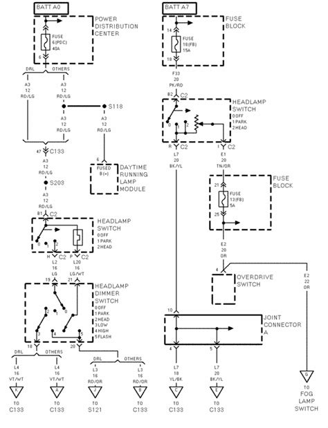 98 dodge ram headlight switch wiring diagram 98 get free