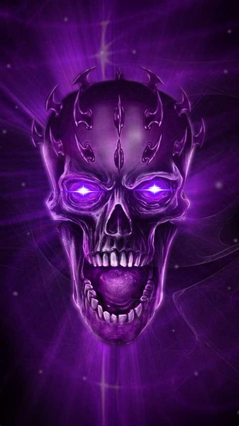 purple skull theme wallpaper skull artwork skull