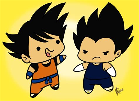 imagenes tiernas dragon ball z goku y vegeta by budgies on deviantart