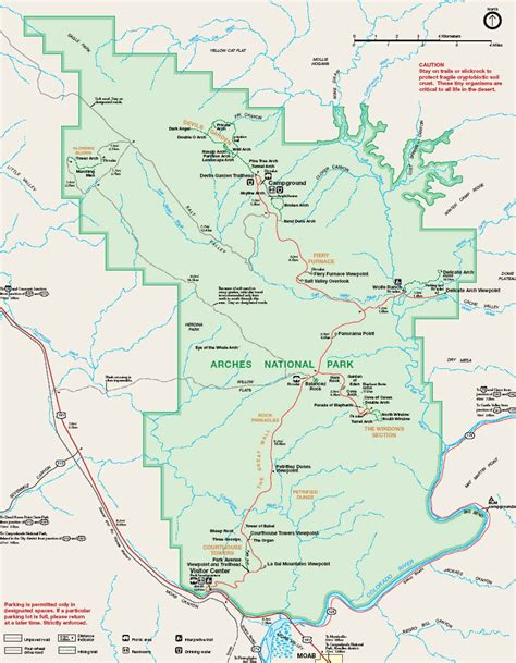 arches national park map file map arches national park jpg wikimedia commons