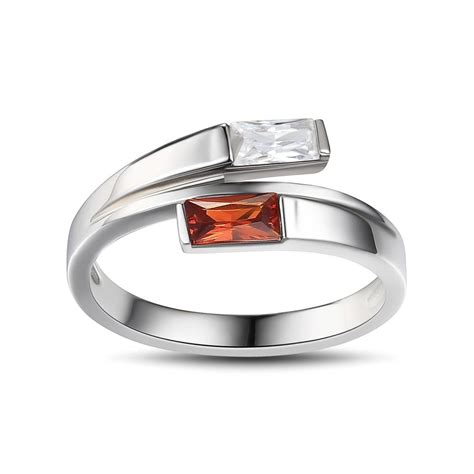 emerald cut ruby sterling silver cocktail ring lajerrio