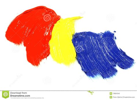 primary colors acrylic paint stock photography image 13824342