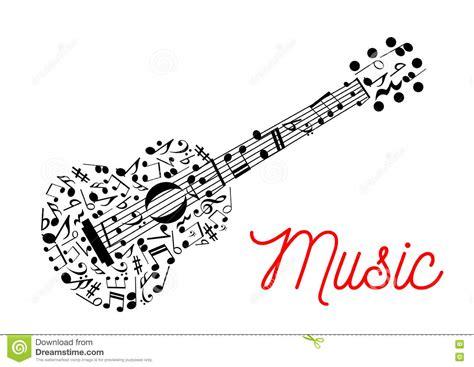 imagenes notas musicales para guitarra guitarra integrada por icono de las notas musicales