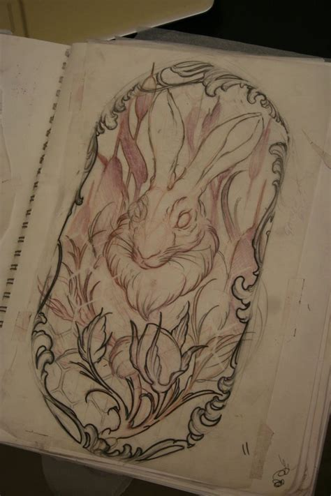 tattoo rabbit designs rabbit design