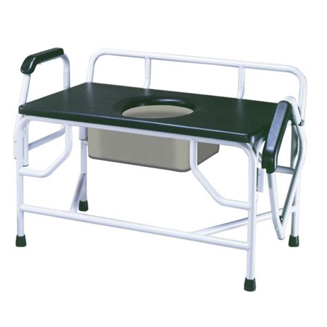 bed side commode bariatric drop arm bedside commode seat 1000 pounds by