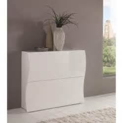 meuble 192 chaussures onda 2 portes blanc brillant ebay