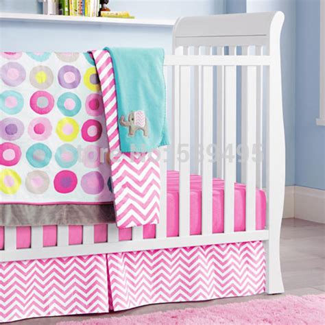 6 Pc Crib Infant Room Kids Baby Bedroom Set Nursery Colorful Crib Bedding Sets