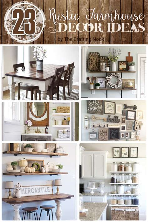 rustic farmhouse decor 23 rustic farmhouse decor ideas the crafting nook by