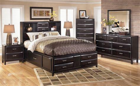 black panel bedroom set kira storage panel bedroom set in black ashley signature