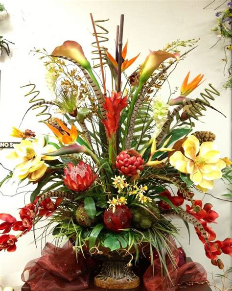 Home Decor Silk Floral Arrangement Floral Decor Tropical Best 20 Tropical Floral Arrangements Ideas On Pinterest Tropical Vases Tropical
