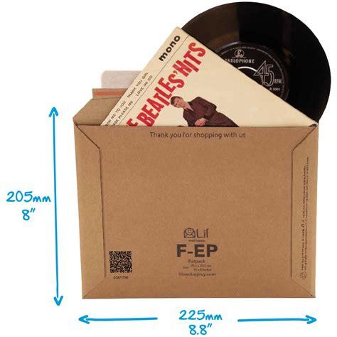 Ep Vinyl Size - vinyl record cardboard envelopes stiff vinyl 7 quot ep mailers