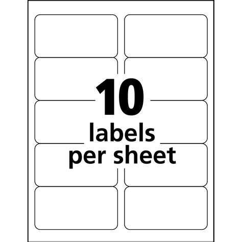 Avery 10 Label Template by Avery Easy Peel Address Label
